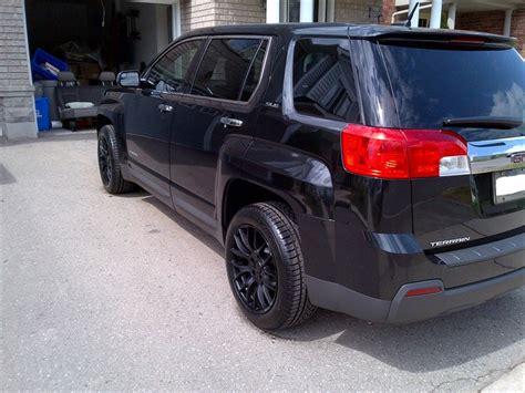 gmc terrain blacked out gmc terrain black wheels