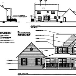 house elevation dimensions what s included in a house plan order at familyhomeplans com