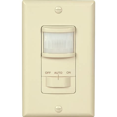 motion detector light switch shop cooper wiring devices 4 amp almond single pole motion