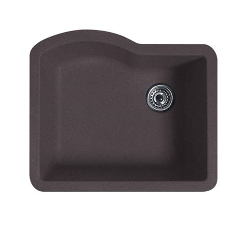 Undermount Single Bowl Kitchen Sink Swan Undermount Granite 21 In Single Bowl Kitchen Sink In Granito Qu03322sb 076 The Home Depot