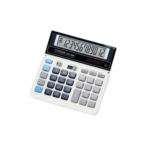 Calculator 12 Digit Citizen Sdc 868 L citizen sdc868l 12 digit desktop calculator jj