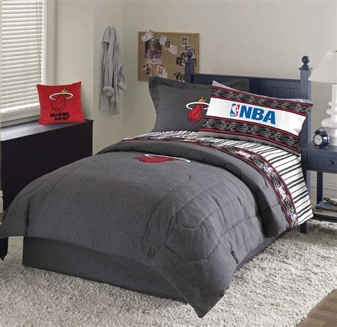 miami heat team denim queen comforter sheet set