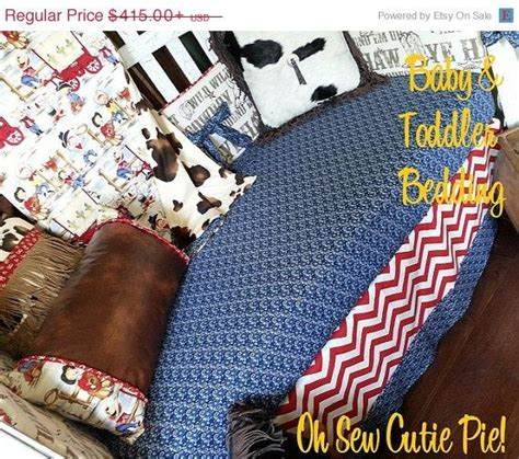Vintage Cowboy Crib Bedding On Sale Western Cowboy Retro Baby Bedding With Personalization Chevron Cowpokes