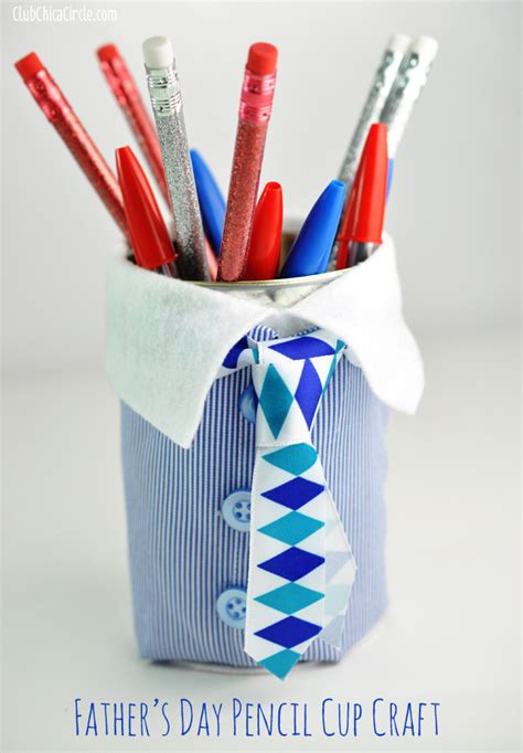 Handmade Fathers Day Presents - s day pencil cup gift idea
