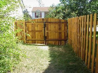 cedar fence   ft wide double gate pictures