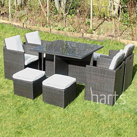 outdoor wicker furniture covers buy harts outdoor rattan cube set 9 dining set wicker patio conservatory furniture inc