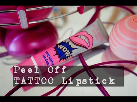 tattoo lipstick peel off peel off tattoo lipstick youtube