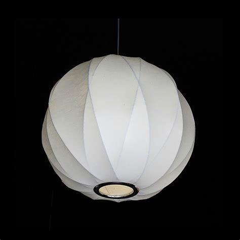 modern silk shade pendant lighting george nelson 9616