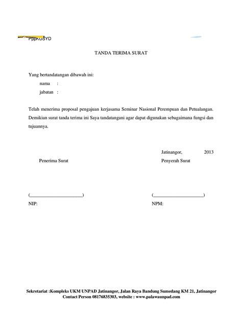 contoh surat tanda terima dokumen - wood scribd indo