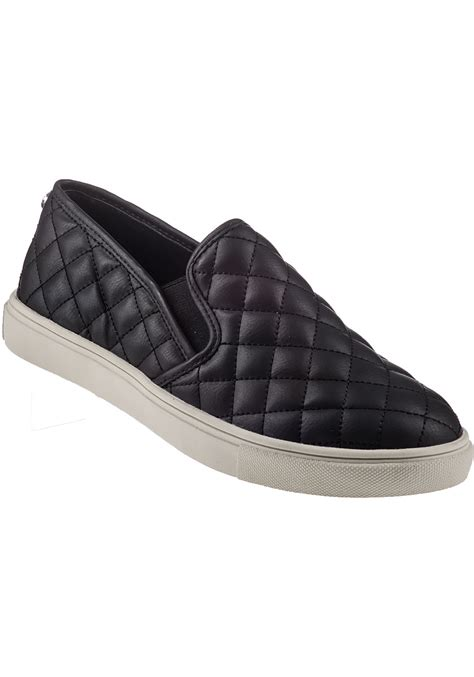 Slip On On19 Putih 2 steve madden ecentrcq slip on trainer black in black lyst