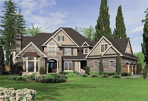 houses with 5 bedrooms new american house plan with 6020 square feet and 5