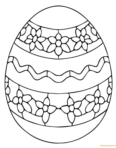 simple ukrainian easter egg coloring page free coloring