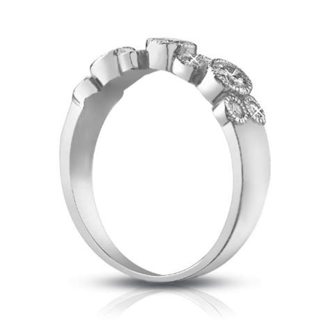 bezel set wedding band 1 00 ct ladies round cut diamond wedding band ring in