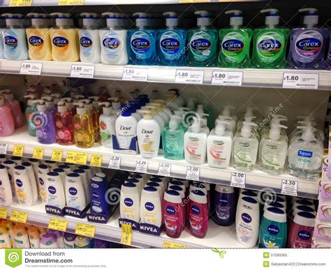 On The Shelf Products by Soap And Shower Gel On The Shelves Editorial Image Image