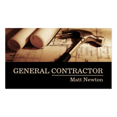 free general contractor business card templates general contractor builder manager construction business
