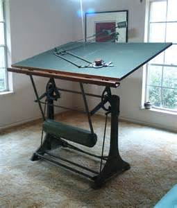 Kuhlmann Drafting Table Antique Franz Kuhlmann Drafting Table And Machine Industrial Furniture