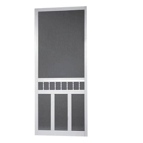 solid vinyl screen doors screen tight 36 in x 80 in waccamaw solid vinyl white