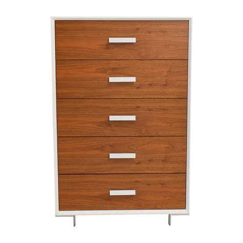 Wood Dresser White Drawers 59 Custom White And Light Wood Five Drawer Dresser Storage