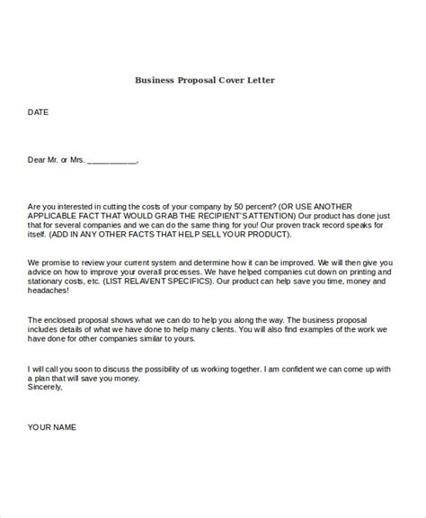 21 business proposal letter exles