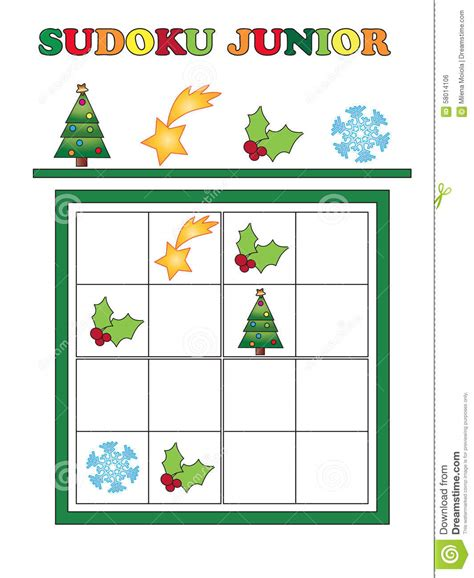 printable junior sudoku sudoku junior stock illustration illustration of tree