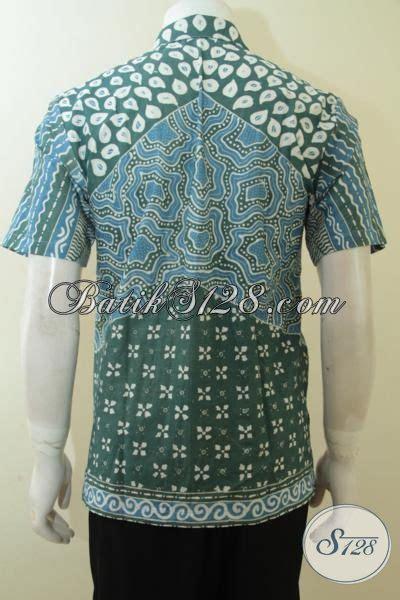 Kemeja Batik Tulis Indigo 075 batik pria berkualitas warna alam biru indigo lengan