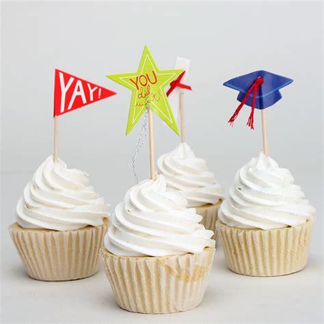 Cupcake Topper New Year Season S Greetings Bulat 5 Cm Topper Cup Cake 24pcs colorful cake decoration graduation season cupcake topper diploma blue