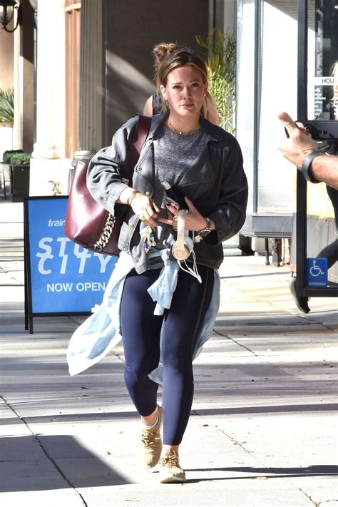 Hilary Duff Hits The by Hilary Duff Hits The In Studio City