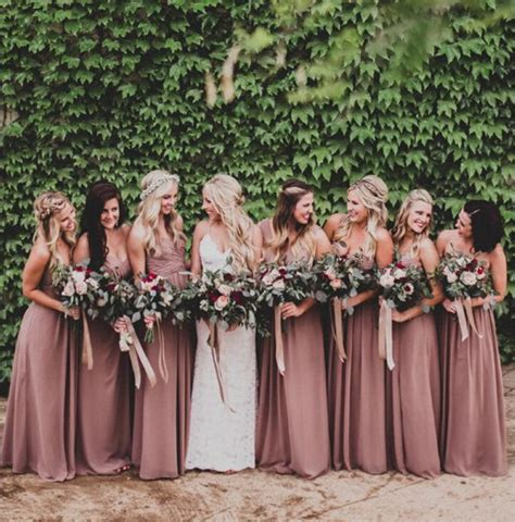 rose themed wedding dress online get cheap dusty rose bridesmaid dresses aliexpress