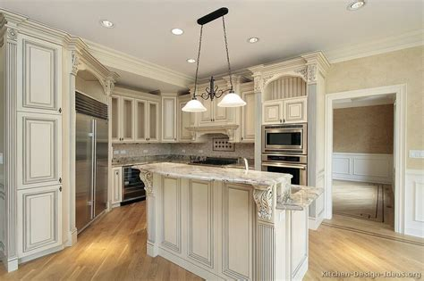 White Antiqued Kitchen Cabinets Pictures Of Kitchens Traditional White Antique Kitchen Cabinets Page 3