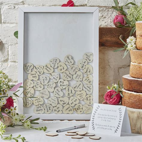 frame drop top wedding guest book alternative by ginger