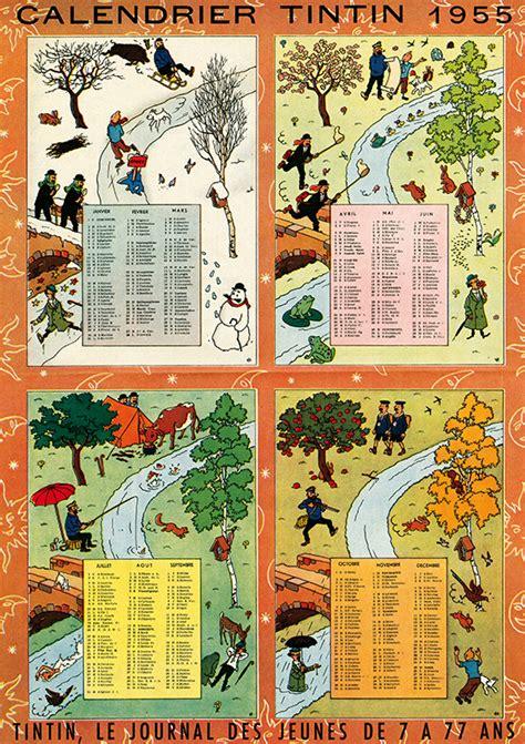Calendrier Tintin 2018 Un Coup De Vent Avec Tintin