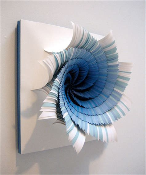 Make Paper Sculpture - color portals paper sculptures by jen stark