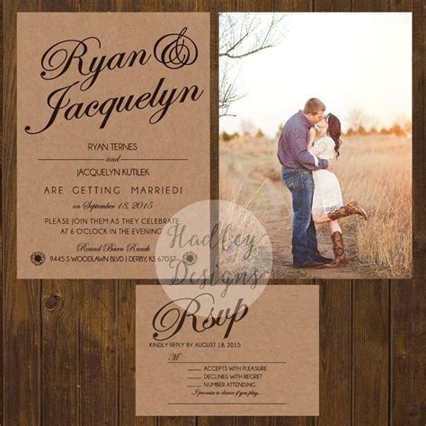 17 Best ideas about Country Wedding Invitations on