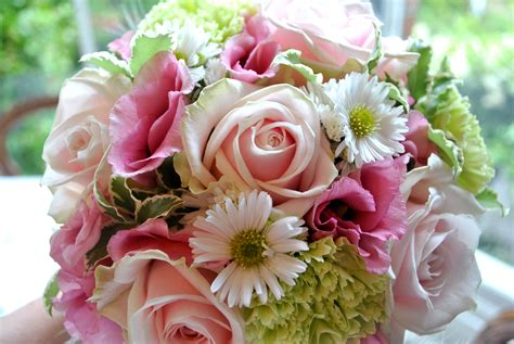 green and pink wedding bouquets pink and green wedding flowers shrigley cheshire