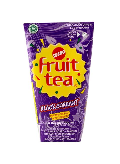 Teh Fruit Tea sosro fruit tea blackcurrant tpk 200ml klikindomaret