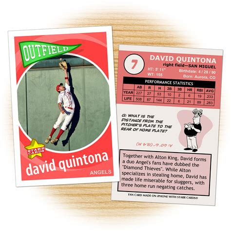 Make Baseball Card Template by Make Your Own Baseball Card With Cards