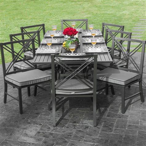 delightful outdoor dining table  person firepit