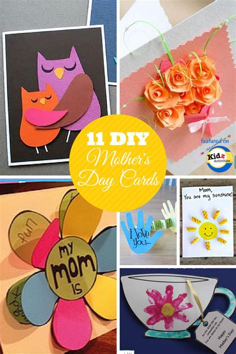 mother day card ideas diy mother s day cards featured on kidz activities