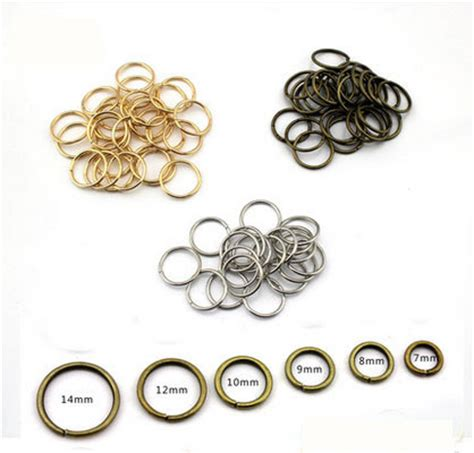 what is a jump ring in jewelry 5mm black bronze silver gold jump rings for jewelry