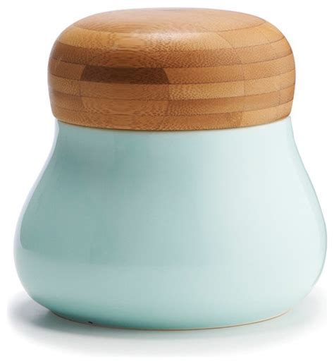 contemporary kitchen canisters mano storage jar medium blue contemporary kitchen