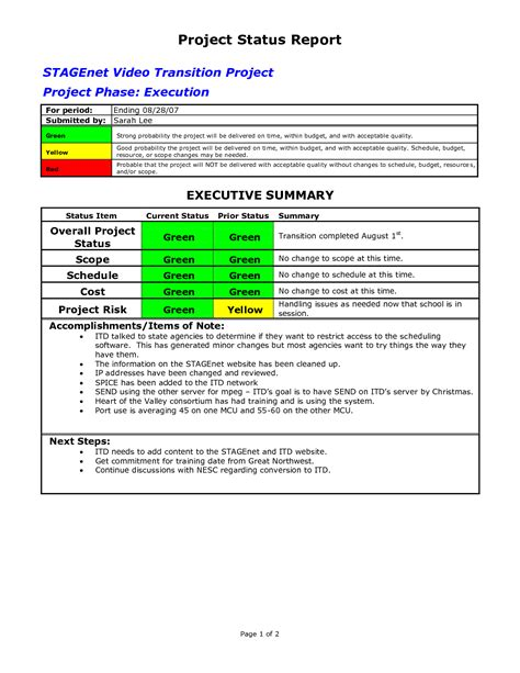 word project report template project status report template cyberuse