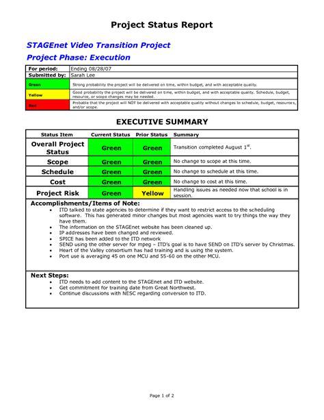 17 status report templates free sample example format download