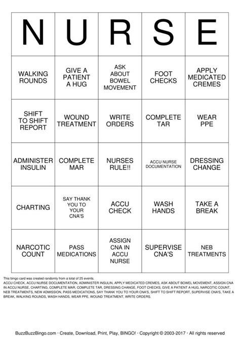 Cna Gift Card - cna bingo cards to download print and customize