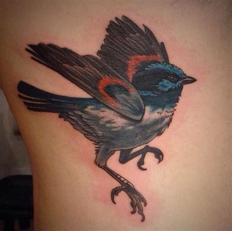 blue wren tattoo designs the map tattoos small blue wren bird