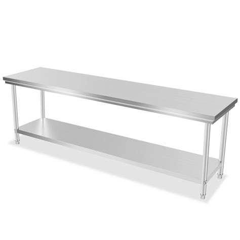 Industrial Kitchen Table Stainless Steel Industrial Commercial Stainless Steel Kitchen Food Prep Shelf Work Table Bench Ebay