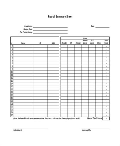 7 Payroll Sheet Templates Free Sle Exle Format Download Free Premium Templates Payroll Template Sheets