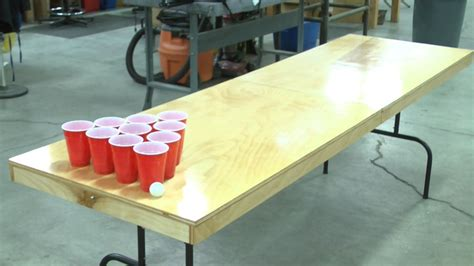 making a beer pong table diy beer pong table crafty pinterest
