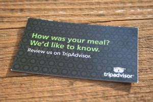 tripadvisor card template use business cards to ask offline customers for third