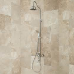 keswick exposed wall mount shower and tub faucet bathroom