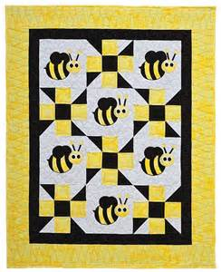 bee baby quilt by steph quilting pattern